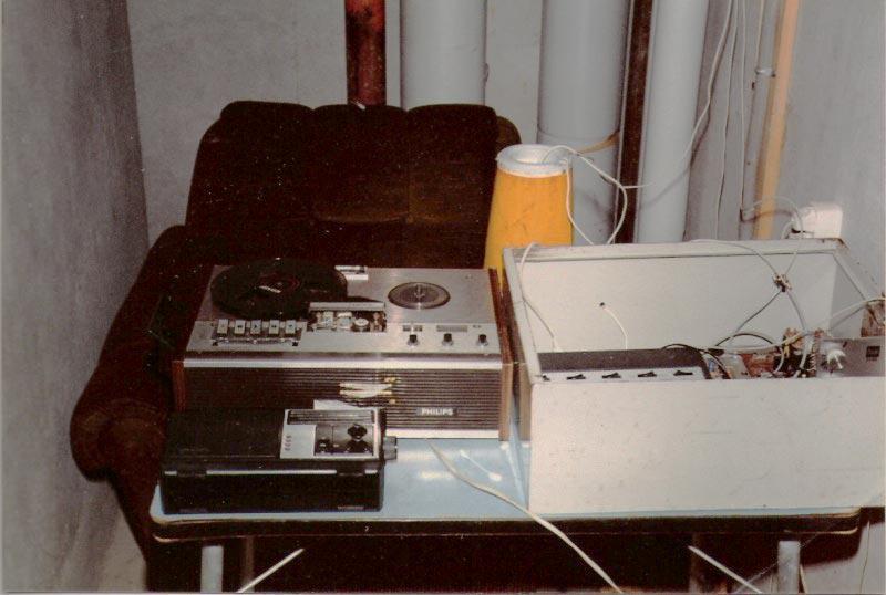 bandrecorder met zender zwanenveld