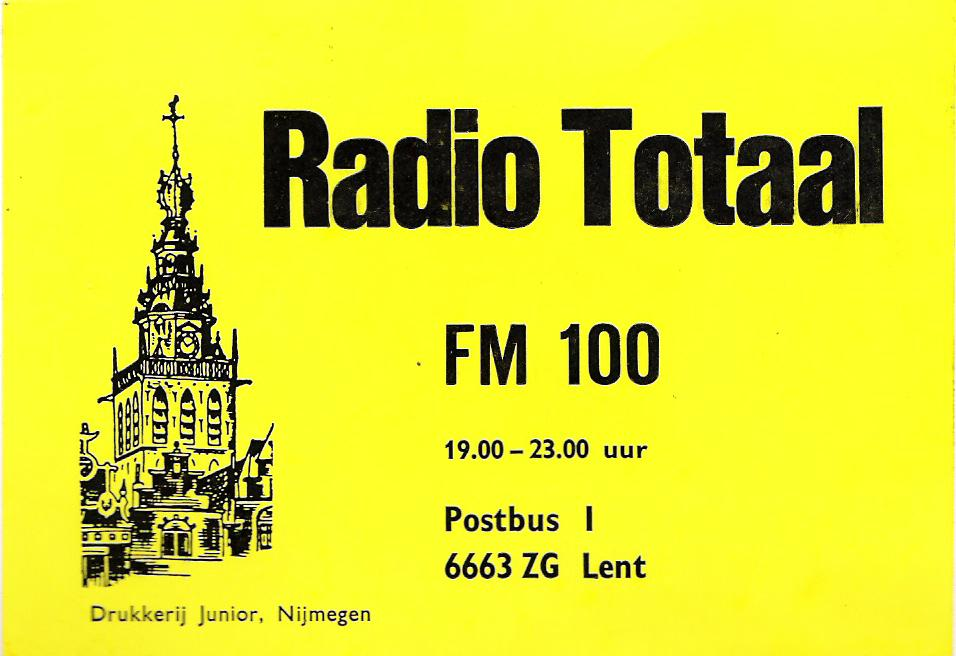 eerste sticker van radio totaal