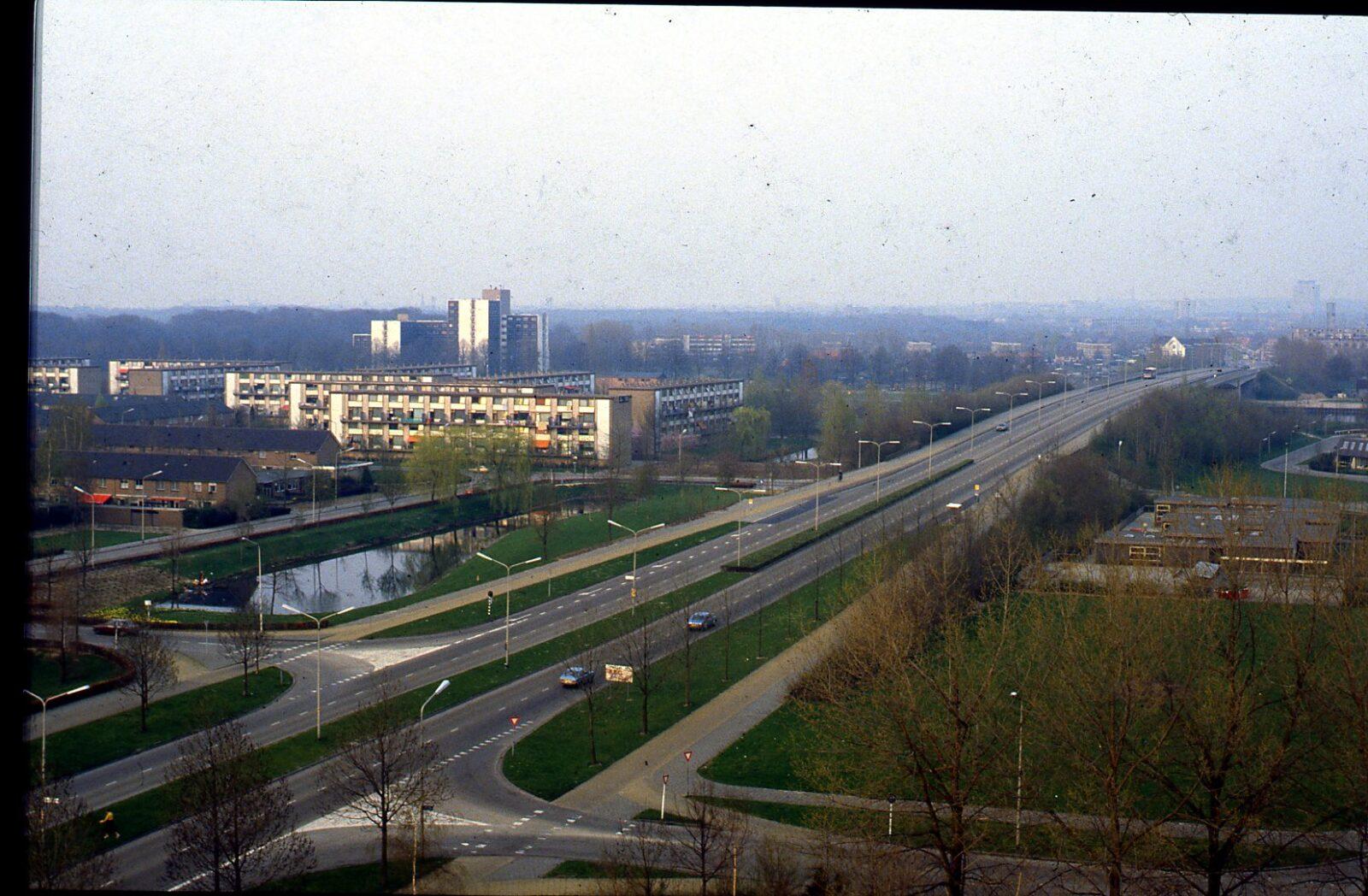 uitzicht vanaf het dak van de flat van uitzendlocatie weezenhof